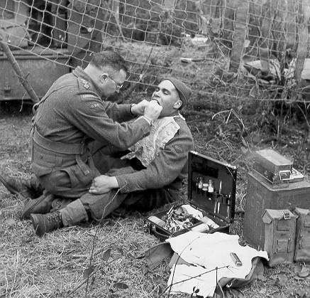 Photograph of Dental Officer in the Field